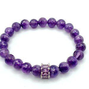 Jewelry - Natural Amethyst Healing beaded bracelet